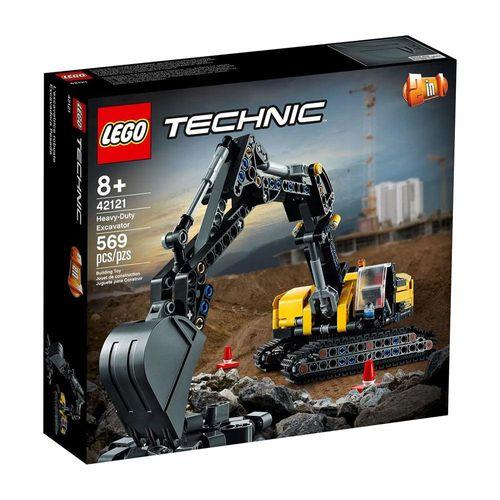 LEGO_Technic_2_Em_1_Escavadeira_para_Trabalhos_Pesados_42121_1