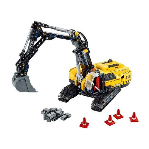 LEGO_Technic_2_Em_1_Escavadeira_para_Trabalhos_Pesados_42121_2