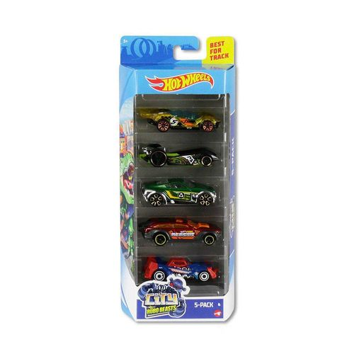 1806_GHP63_Carrinhos_Hot_Wheels_Pacote_com_5_Carros_City_Vs_Robo_Beasts_Mattel_1