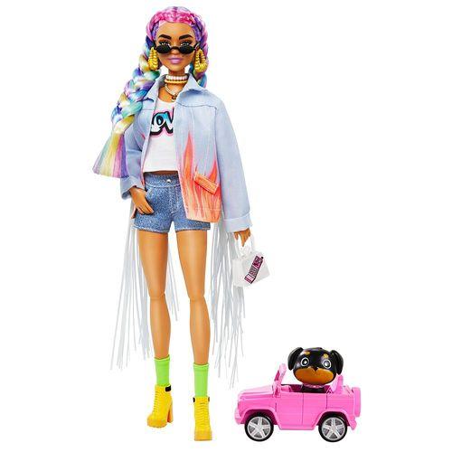 GRN27-GRN29-Boneca-Barbie-Extra-Trancas-De-Arco-Iris-Mattel-1