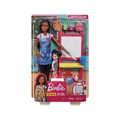 DHB63-Boneca-Barbie-com-Acessorios-Profissoes-Barbie-Professora-de-Arte-Negra-Mattel-1