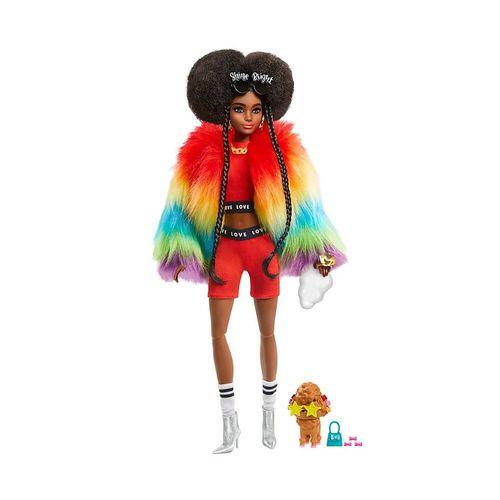 GRN27-Boneca-Barbie-Extra-Negra-com-Casaco-Arco-Iris-Mattel-1