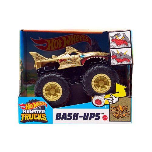 GWT02-Carrinho-Hot-Wheels-1-43-Monster-Trucks-Shark-Wreak-Leopard-Bash-Ups-Mattel-2