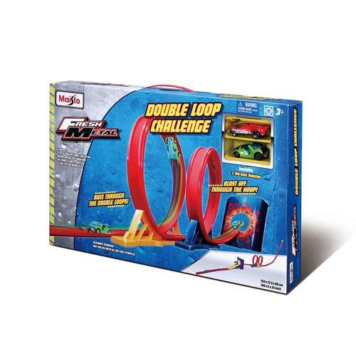 14-12363-Pista-com-2-Carrinhos-Fresh-Metal-Double-Loop-Challenge-Maisto-2