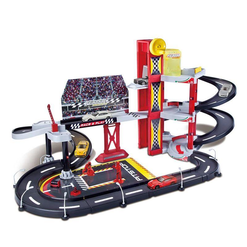 19-30197-Playset-Ferrari-Race-and-Play-Garagem-de-Corrida-Burago-1