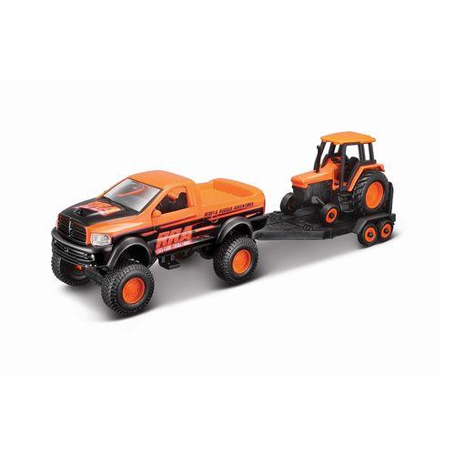 19-21224-Conjunto-com-2-Veiculos-4x4-Rebels-2004-Dodge-Ram-SRT-10-e-Trator-Maisto-1