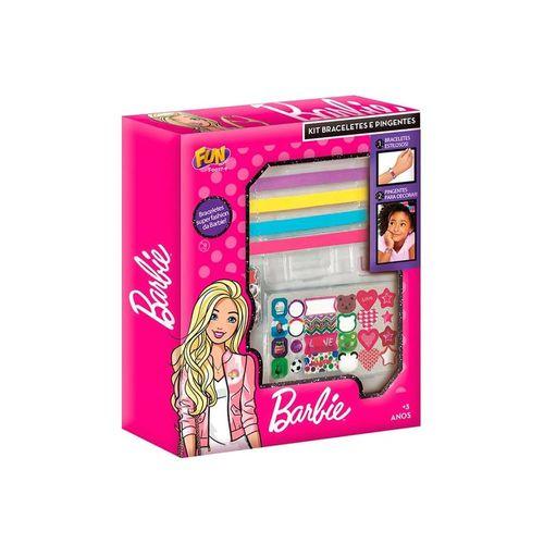 F0027-9-Kit-de-Braceletes-e-Pingentes-Barbie-Pink-Fun