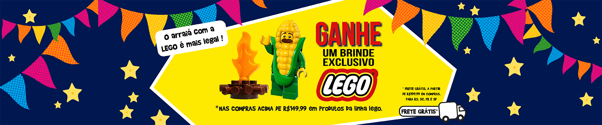 LEGO Brinde + Frete Grátis