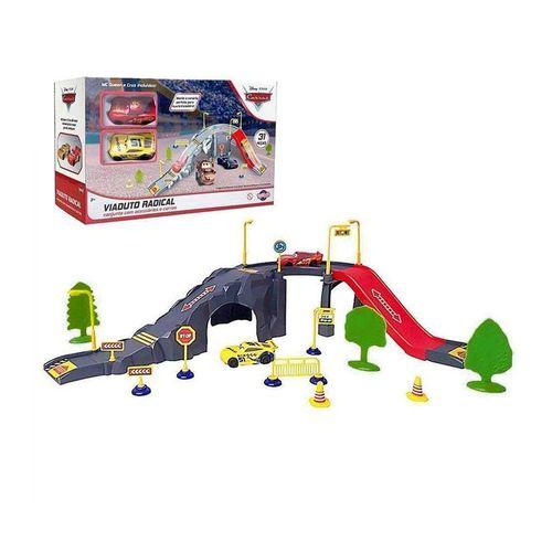 40853-Playset-com-2-Carrinhos-Carros-3-Viaduto-Radical-Disney-Toyng-2
