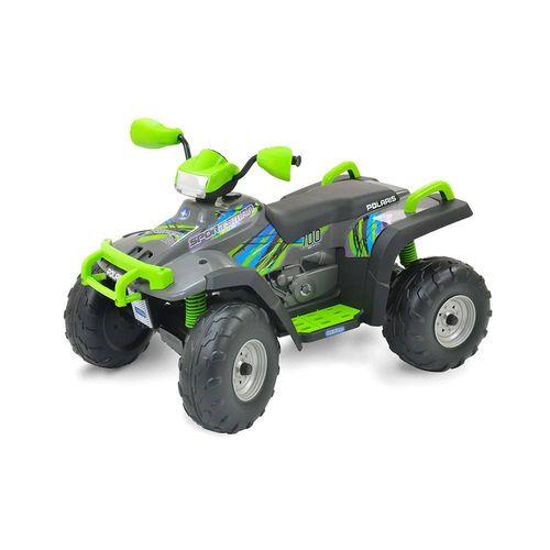 IGOD0100-Mini-Quadriculo-Eletrico-Infantil-Polaris-Sportsman-700-Twin-Verde-12-Volts-Peg-Perego-1
