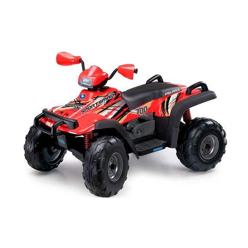 IGOD0099-Mini-Quadriculo-Eletrico-Infantil-Polaris-Sportsman-700-Twin-Vermelho-12-Volts-Peg-Perego