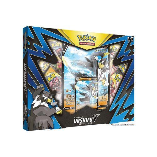 85345-Box-de-Cartas-Pokemon-Golpe-Fluido-Colecao-Urshifu-V-Copag