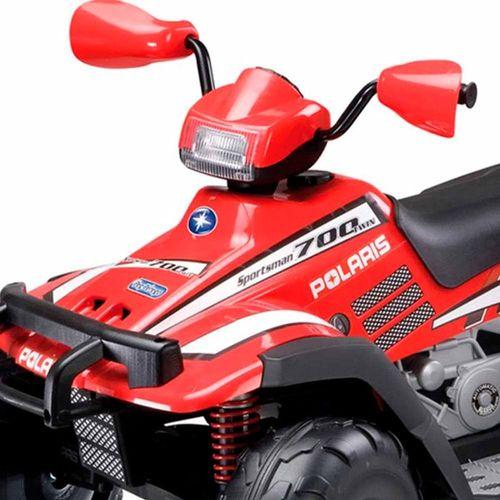 BURIGOD0099-Mini-Quadriculo-Eletrico-Infantil-Polaris-Sportsman-700-Twin-Vermelho-12-Volts-Peg-Perego