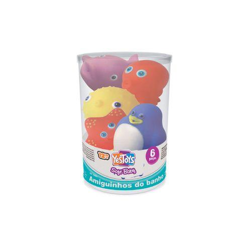 10009-Brinquedo-de-Banho-Amiguinhos-do-Banho-6-Pecas-Sortidas-Pura-Diversao-Yes-Toys