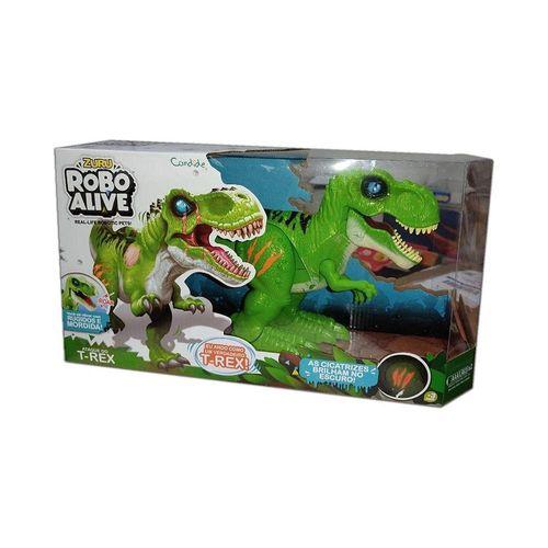 1113-Figura-com-Movimento-e-Som-T-Rex-Verde-Robo-Alive-Candide-2