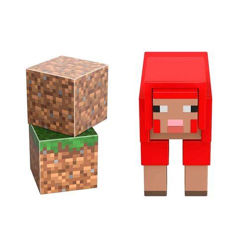 GTP08-Figura-Basica-Minecraft-Caves-and-Cliffs-Ovelha-Vermelha-Mattel-2