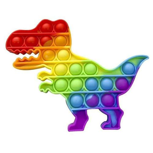 Brinquedo-Pop-Fun---Dinossauro---Arco-Iris---Anti-Stress---Pura-Diversao-